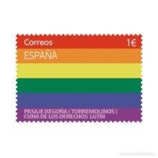 Sellos: ESPAÑA 2020 DÍA INTERNACIONAL DEL ORGULLO LGTBI PASAJE BEGOÑA (TORREMOLINOS) MNH ED 5412 YT 5153. Lote 210610975