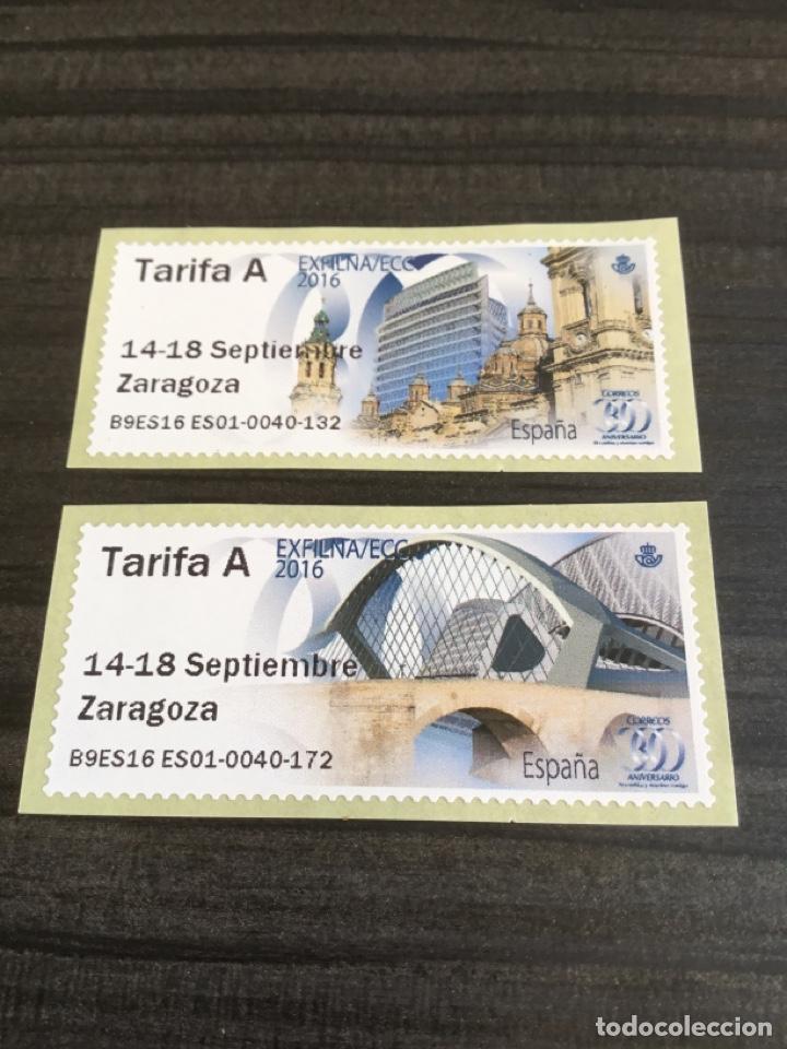 ATMS ZARAGOZA EXFILNA 2016. TARIFA A. (Sellos - España - Felipe VI)