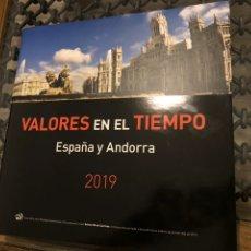Sellos: SELLOS ESPAÑA Y ANDORRA AÑO 2019 COMPLETO. INCLUYE LIBRO VALORES EN EL TIEMPO. Lote 215588400