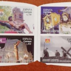Sellos: ESPAÑA, N°5308/11 TRADICIONES Y COSTUMBRES. SEMANA SANTA 2019 MNH (FOTOGRAFÍA ESTÁNDAR ). Lote 263107805
