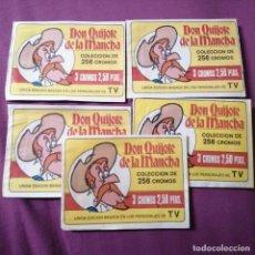 Sellos: LOTE DE 5 SOBRES SIN ABRIR DON QUIJOTE LA MANCHA BRUGUERA. Lote 218046021