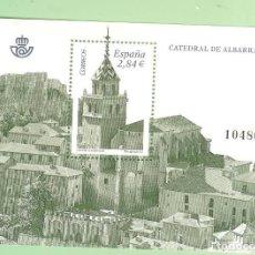 Sellos: HOJA BLOQUE 2011 CATEDRAL ALBARRACIN SELLO DE 2,84 EUROS 30% DE DESCUENTO. FRANQUEO O COLECCIONISMO. Lote 218475215