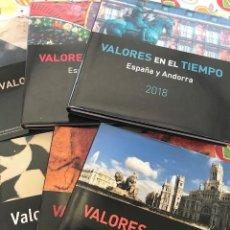 Sellos: LIBRO OFICIAL DE CORREOS AÑOS 2014 2015 2016 2017 2018 2019 VALORES EN EL TIEMPO 6 LIBROS SIN SELLOS. Lote 218774040