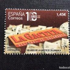 Sellos: ESPAÑA AÑO 2020. CENTENARIO DE LA GACETA DE SALAMANCA. Lote 277200838