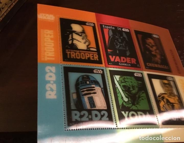 Sellos: España 2017 Star Wars 5 euros. Darth Vader. Hojita lenticular. Nuevo MNH - Foto 2 - 222094233
