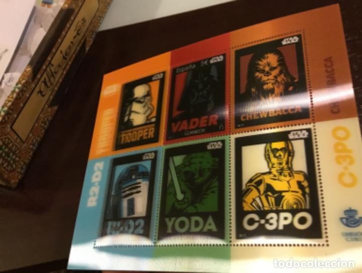 Sellos: España 2017 Star Wars 5 euros. Darth Vader. Hojita lenticular. Nuevo MNH - Foto 3 - 222094233