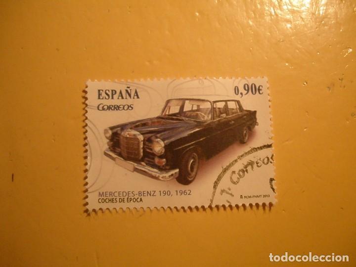 ESPAÑA 2013 - COCHES DE ÉPOCA, MERCEDES-BENZ 190, AÑO 1962. (Sellos - España - Felipe VI)