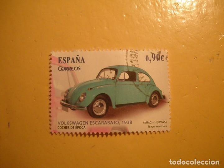 ESPAÑA 2013 - COCHES DE ÉPOCA, VOLKSWAGEN ESCARABAJO, AÑO 1938. (Sellos - España - Felipe VI)