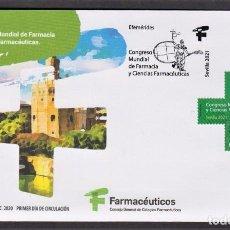Francobolli: 18.- ESPAÑA 2020 SOBRE PRIMER DIA - CONGRESO MUNDIAL DE FARMACIA EN SEVILLA. Lote 224562095
