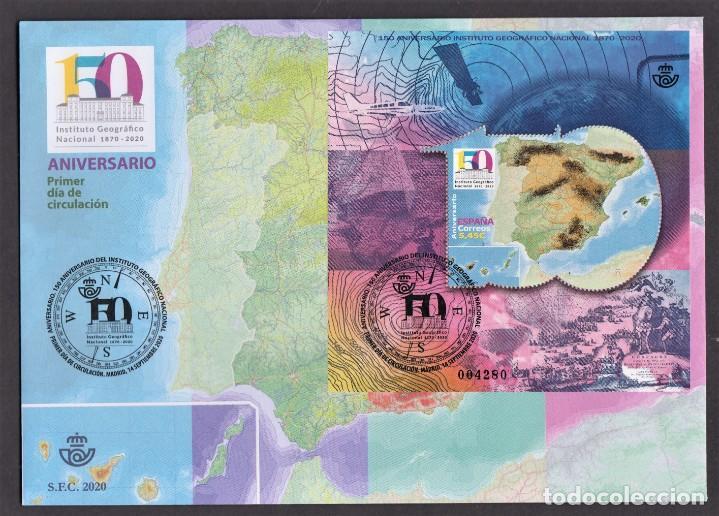 19.- ESPAÑA 2020 SOBRE PRIMER DIA - 150 AÑOS DEL INSTITUTO GEOGRAFICO NACIONAL (Sellos - España - Felipe VI)