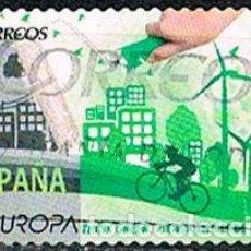 Sellos: EDIFIL Nº 5055, EUROPA 2016, PIENSA EN VERDE, USADO. Lote 225011190