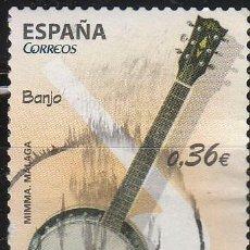 Sellos: EDIFIL Nº 4712, INSTRUMENTOS MUSICALES: EL BANJO (MUSEO DE MALAGA), USADO. Lote 225315685