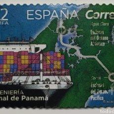 Sellos: SELLO ESPAÑA, INGENIERÍA, CANAL DE PANAMÁ, 2019, TARIFA A2. Lote 228342740