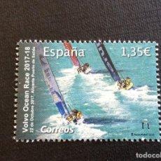 Francobolli: ESPAÑA Nº YVERT 4978*** AÑO 2018.DEPORTE NAUTICO. VOLVO OCEAN RACE. Lote 228668240