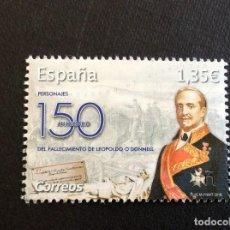 Francobolli: ESPAÑA Nº YVERT 4994*** AÑO 2018. 150 ANIVERSARIO MUERTE DE LEOPOLDO O´DONNELL. Lote 228668665