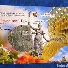 Sellos: ESPAÑA 2018, HOJA BLOQUE EDIFIL 5264 EXFILNA 2018 SEVILLA. MNH.. Lote 229842095