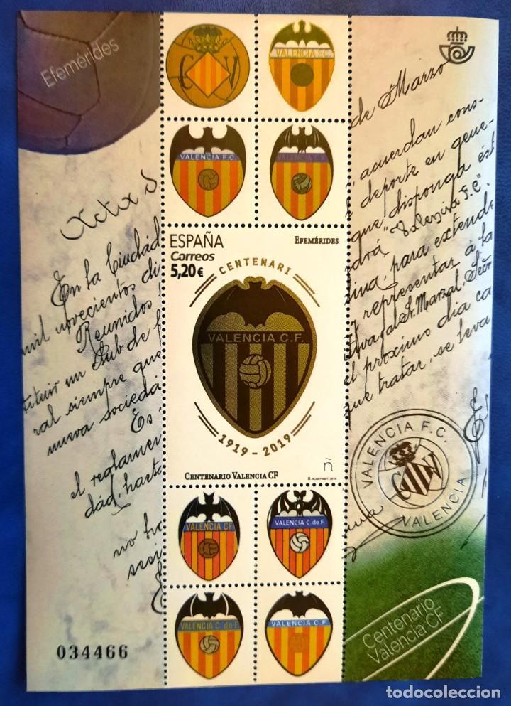 ESPAÑA SPAIN 5299 2019 EFEMÉRIDES CENTENARIO DEL VALENCIA MNH (Sellos - España - Felipe VI)