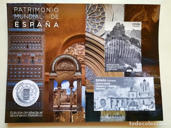 2020 PATRIMONIO MUNDIAL ESPAÑA EDICION LIMITADA ABONADO FILATELICO (Sellos - España - Felipe VI)