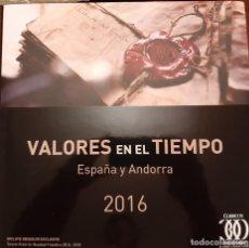 Francobolli: LIBRO VALORES EN EL TIEMPO 2016. CON SELLOS DE ESPAÑA Y ANDORRA.. Lote 232866083