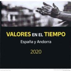 Sellos: ESPAÑA 2020 LIBRO VALORES EN EL TIEMPO SIN SELLOS Y CON TODOS LOS FILOESTUCHES NUEVO. Lote 237051630
