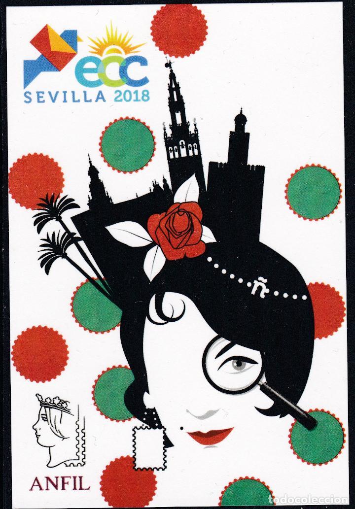 ESPAÑA.- TARJETA POSTAL CONMEMORATIVA DE LA ECC DE SEVILLA 2018 NUEVA (Sellos - España - Felipe VI)