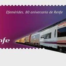 Timbres: ESPAÑA 2021 80 ANIVERSARIO RENFE. MNH ED 5459 YT 5199. Lote 241920315
