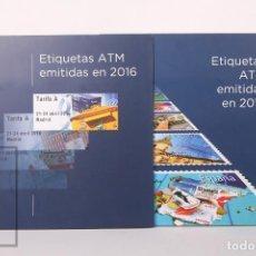Sellos: COLECCIÓN - ETIQUETAS FRANQUEADORAS ATM - AÑOS COMPLETOS 2016 Y 2017 - EN NUEVO. Lote 242832560