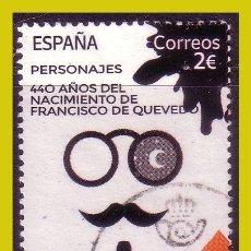 Timbres: 2020 PERSONAJES. 440 ANIVº FRANCISCO DE QUEVEDO, EDIFIL Nº 5428 (O). Lote 244140665