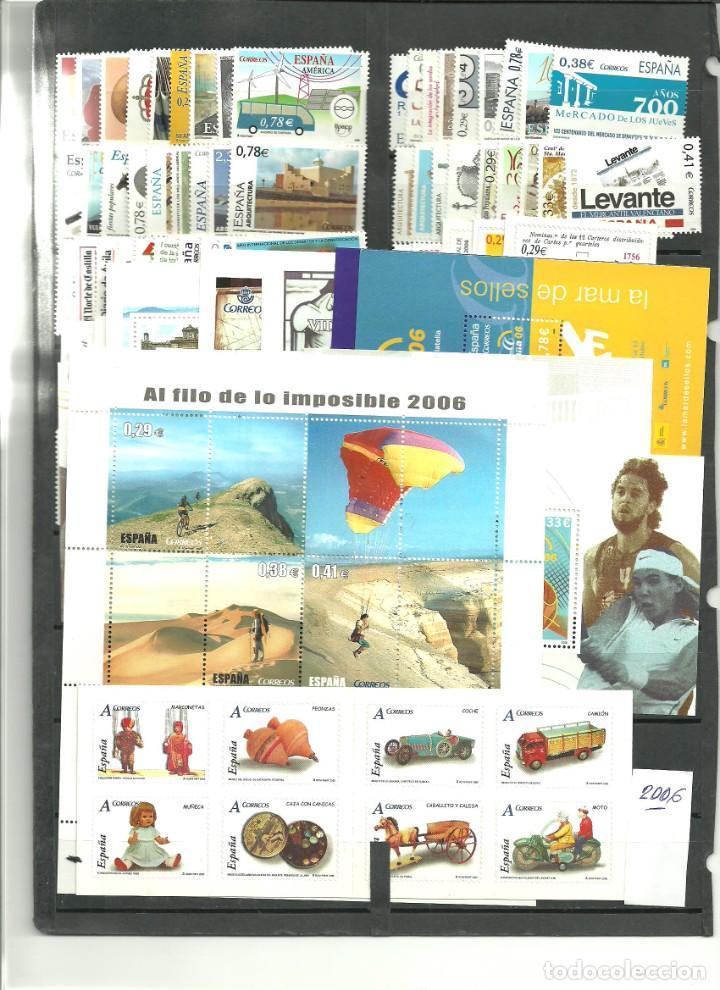 ESPAÑA- AÑO COMPLETO 2006 SELLOS NUEVOS VALOR BAJO FACIAL (SEGUN FOTO) (Sellos - España - Felipe VI)