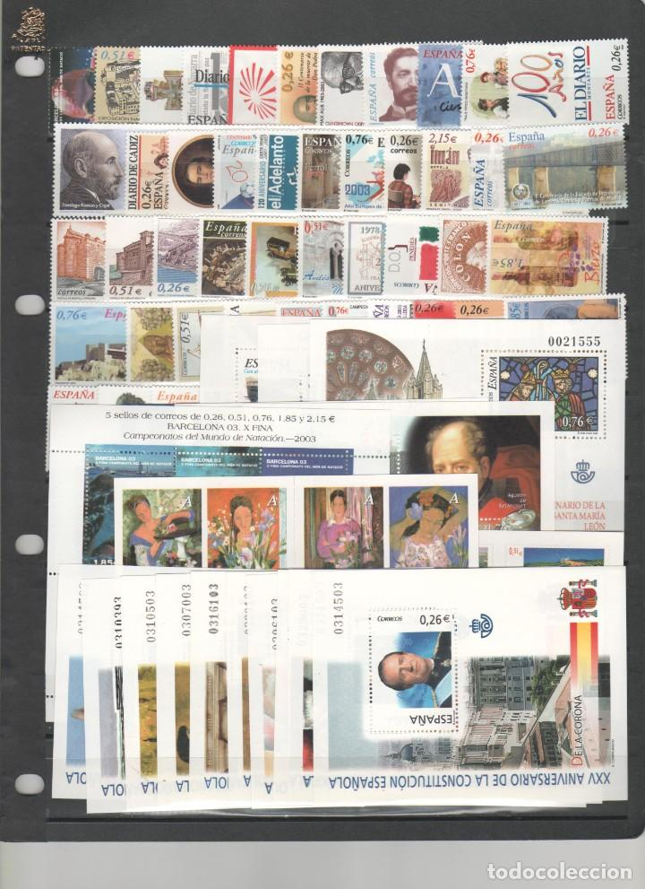 ESPAÑA- AÑO COMPLETO 2003 SELLOS NUEVOS VALOR BAJO FACIAL (SEGUN FOTO) (Sellos - España - Felipe VI)