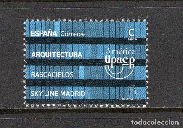 "SERIE3 NUEVA ** MNH ""AMÉRICA UPAEP, ARQUITECTURA, RASCACIELOS, SKY LINE MADRID"", AÑO 2020 (Sellos - España - Felipe VI)"