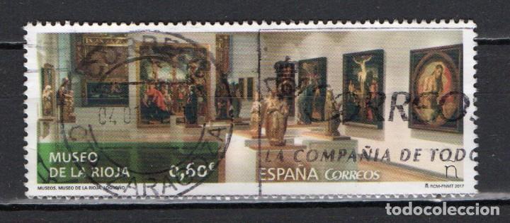 """SELLO USADO DE ESPAÑA """"MUSEO DE LA RIOJA"""", AÑO 2017 (Sellos - España - Felipe VI)"""