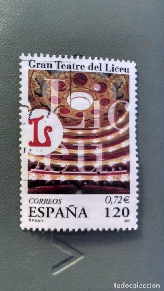 SELLO ESPAÑA GRAN TEATRO DEL LICEU. USADO. (Sellos - España - Felipe VI)