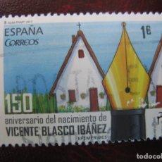 Selos: -2017, 150 ANIV. VICENTE BLASCO IBAÑEZ, EDIFIL 5122. Lote 249316515