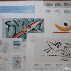 Selos: SELLOS ESPAÑA 6ª EMISION DE SELLOS PREOLIMPICOS EN CARPETA Y LAMINAS NUMERADAS. Lote 251309715