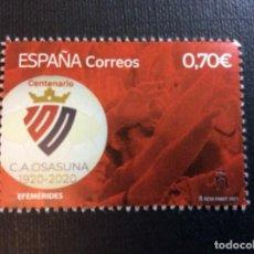 Sellos: ESPAÑA AÑO 2021. FUTBOL. CENTENARIO C.A.OSASUNA. Lote 252078615