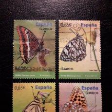 Sellos: ESPAÑA EDIFIL 4622/5 SERIE COMPLETA USADA 2011. FAUNA. MARIPOSAS. INSECTOS. PEDIDO MÍNIMO 3€. Lote 253200325
