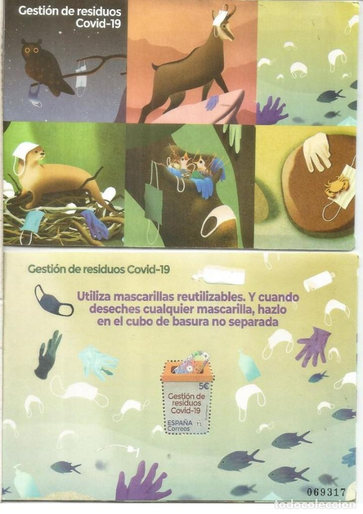 SPAIN 2021 - MANAGEMENT OF COVID WASTE MINIATURE SHEET (Sellos - España - Felipe VI)