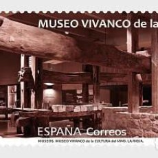 Sellos: SPAIN 2021 - MUSEUMS - THE RIOJA WINE CULTURE MUSEUM MNH. Lote 254611625