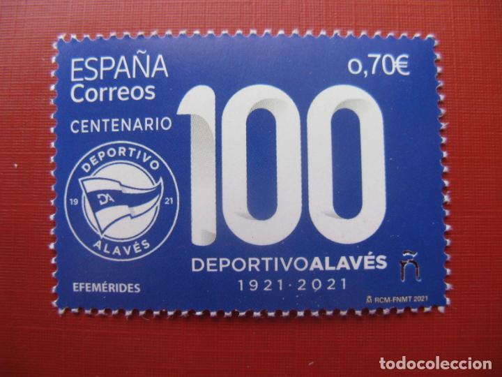 2021, CENTENARIO DEL CLUB DEPORTIVO ALAVES. (Sellos - España - Felipe VI)