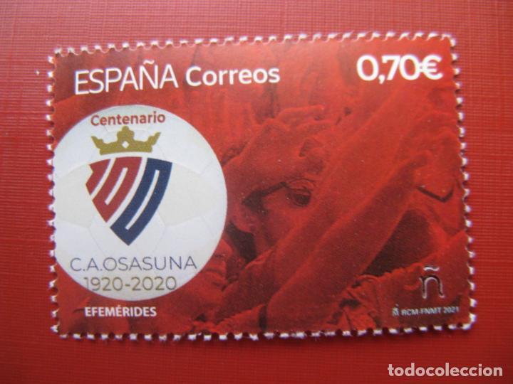 2021, CENTENARIO DEL CLUB ATLÉTICO OSASUNA. (Sellos - España - Felipe VI)
