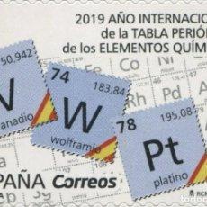 Sellos: ESPAÑA 2019 EDIFIL 5287 SELLO ** AÑO INTERNACIONAL DE LA TABLA PERIODICA MICHEL 5318 YVERT 5023. Lote 255949795