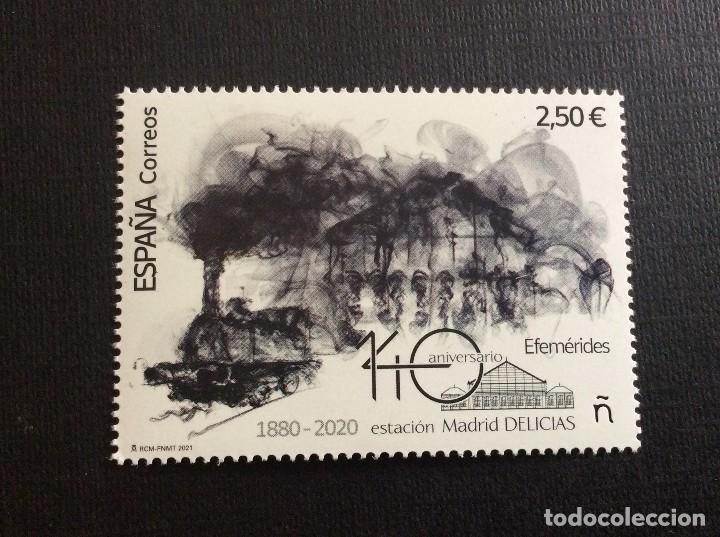 ESPAÑA AÑO 2021. 140 ANIVERSARIO ESTACION DE DELICIAS (Sellos - España - Felipe VI)
