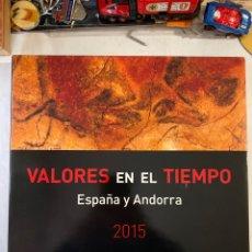Sellos: VALORES EN EL TIEMPO ESPAÑA Y ANDORRA 2015-CON LOS SELLOS Y EL GRABADO SANTA TERESA-EXCELENTE ESTADO. Lote 257599120