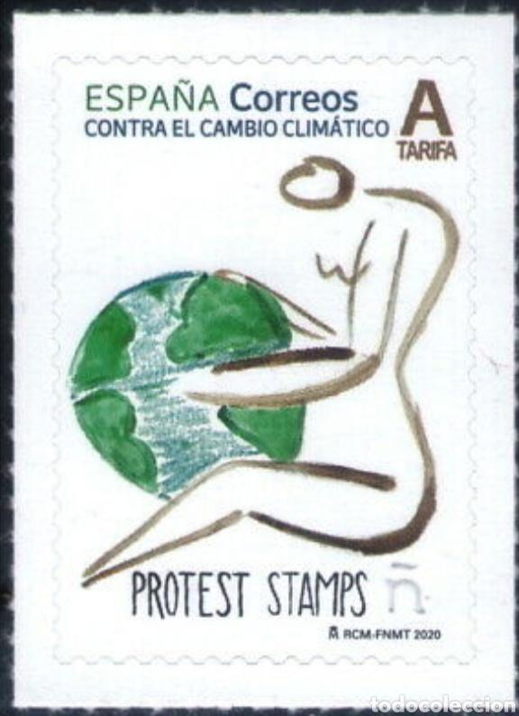 ESPAÑA, 5396 CONTRA EL CAMBIO CLIMÁTICO. PROTEST STAMPS(FOTOGRAFÍA ESTÁNDAR) (Sellos - España - Felipe VI)