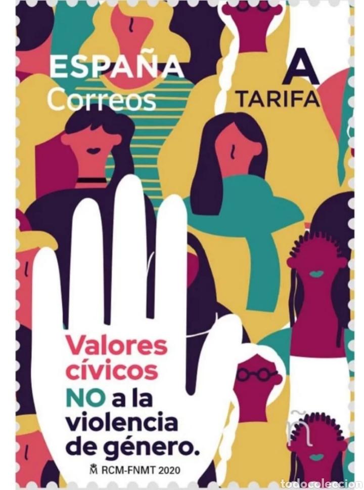 ESPAÑA 5443 VALORES CIVICOS. NO A LA VIOLENCIA DE GÉNERO (FOTOGRAFÍA ESTÁNDAR) (Sellos - España - Felipe VI)