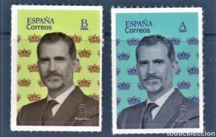 ESPAÑA 5373/4 SERIE BÁSICA 2020. S.M. FELIPE VI.(FOTOGRAFÍA ESTÁNDAR) (Sellos - España - Felipe VI)