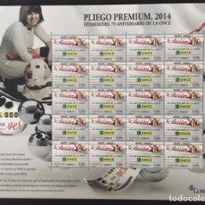 Sellos: 2014-ESPAÑA EDIFIL 4895 MNH** 75º ANIVERSARIO DE LA ONCE - PLIEGO PREMIUM Nº 11. Lote 260647055
