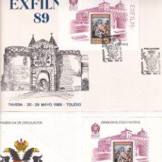 Sellos: SELLOS ESPAÑA OFERTA 2 SPD AÑO 1989 CON MATASELLOS ESPECIALES EXFILNA 89. Lote 261680275