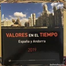 Sellos: 2019-ESPAÑA LIBRO CORREOS VALORES EN EL TIEMPO ESPAÑA Y ANDORRA COMPLETO - FACIAL SUPERIOR 180 € -. Lote 262360615